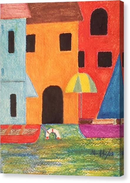 Venice In Pastel Canvas Print