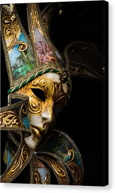 Venice Italy - Carnival Mask Canvas Print