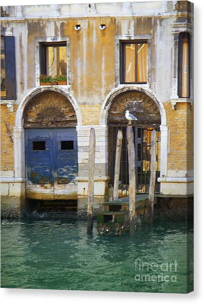 Venice Italy Double Boat Room Canvas Print