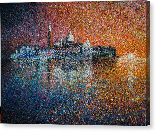 Venice Jewel Of The Adriatic Canvas Print by Les Conroy