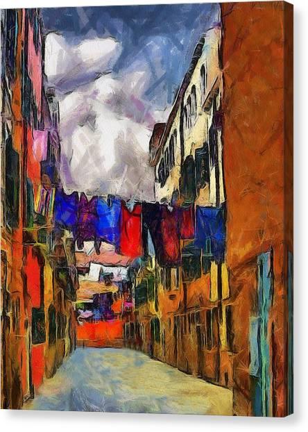Venice Laundry 2 Canvas Print by Cary Shapiro