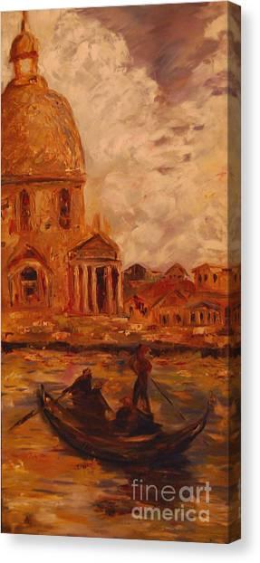 Venice Morning Canvas Print by Nancy Bradley