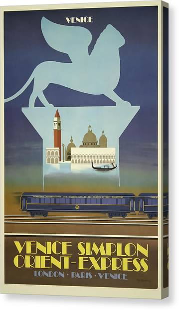 Venice Orient Express Canvas Print
