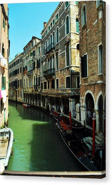Venice River Canvas Print