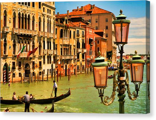 Venice Street Lamp Canvas Print