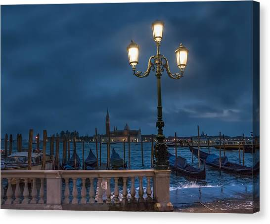 Venice Streetlight Canvas Print