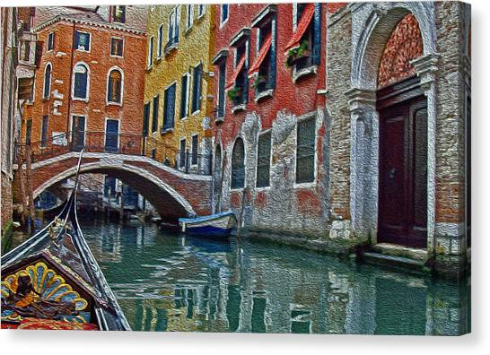 Venice Water Home Canvas Print