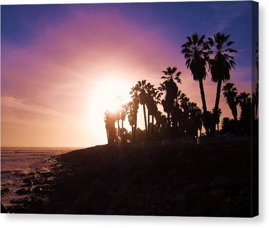 Ventura Beach Sunset Canvas Print