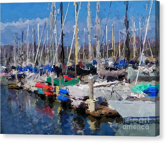 Ventura Harbor Village Canvas Print