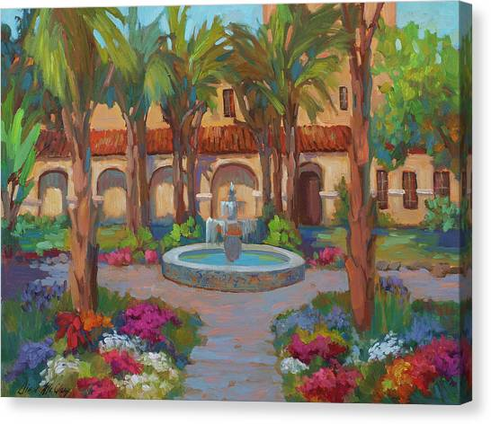 Mission Canvas Print - Ventura Mission by Diane McClary