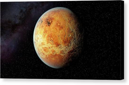 Venus Canvas Print - Venus And Its Rocky Surface by Joe Tucciarone