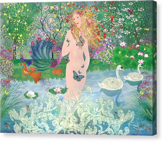 Venus En Primavera Canvas Print