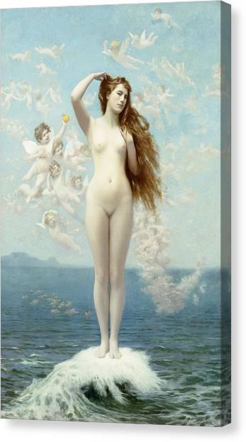 Celestial Canvas Print - Venus Rising The Star by Jean Leon Gerome