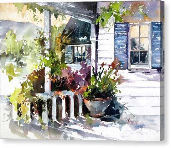 Veranda Shadows Canvas Print