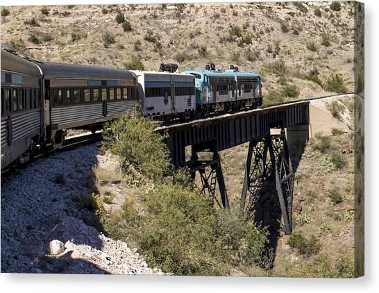 Verde Canyon Railway On Trestle Canvas Print