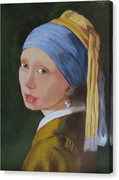 Vermeer Study Canvas Print