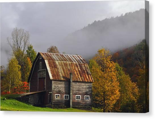 Vermont Autumn Barn Canvas Print