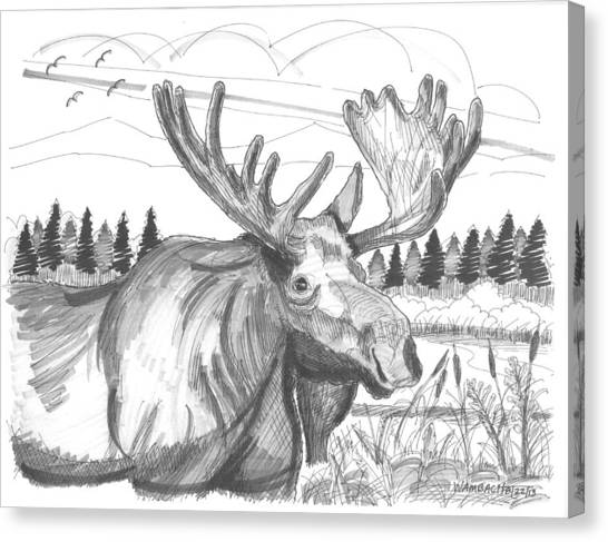 Vermont Bull Moose Canvas Print
