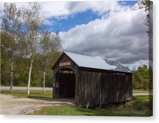 Vermont Country Store Covered Bridge Canvas Print