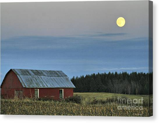 Vermont Full Moon Canvas Print