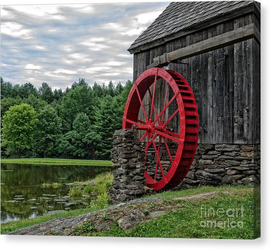 Country Store Canvas Print - Vermont Grist Mill by Edward Fielding