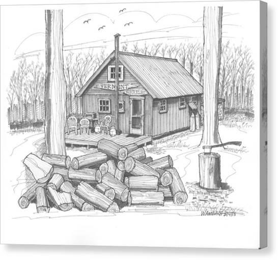 Vermont Hunter Lodge Canvas Print