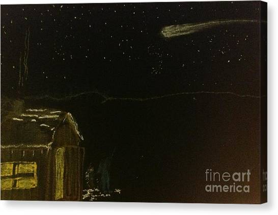Dartmouth College Canvas Print - Vermont Sugarhouse And Comet. by Willard Hashimoto