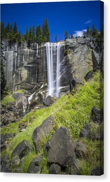Vernal Falls In July At Yosemite Canvas Print