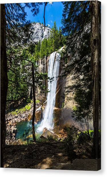 Vernal Falls Through The Trees Canvas Print