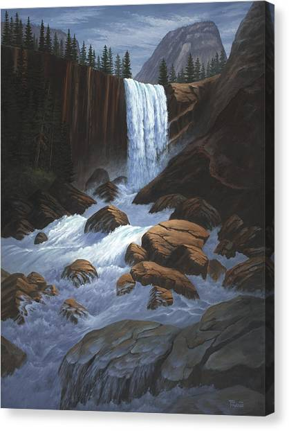 Vernal Falls Yosemite  Canvas Print