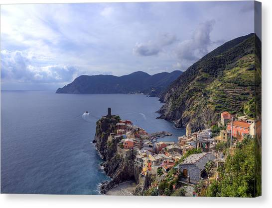 Vernazza By The Sea Canvas Print