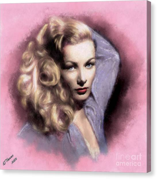 Van Goughs Ear Canvas Print - Veronica Lake by Arne Hansen