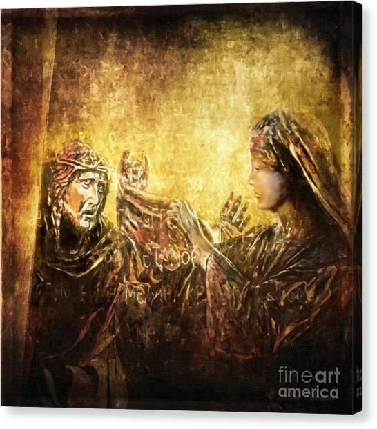 Veronica Wipes His Face Via Dolorosa 6 Canvas Print