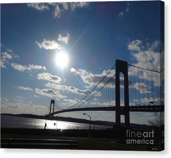 Verrazano Bridge Sunset Canvas Print