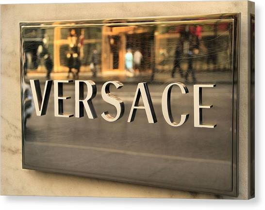 Clothing Store Canvas Print - Versace by Dan Sproul