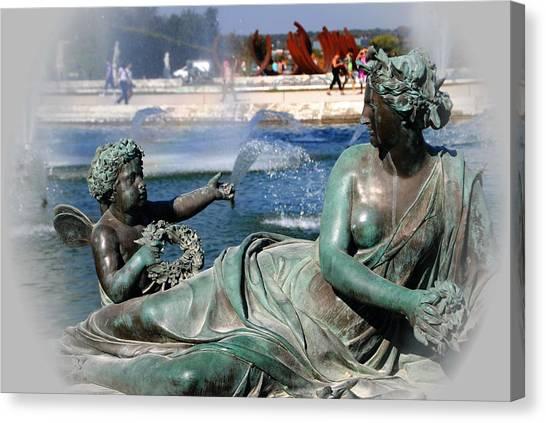 Versailles Fountain Canvas Print by Jacqueline M Lewis