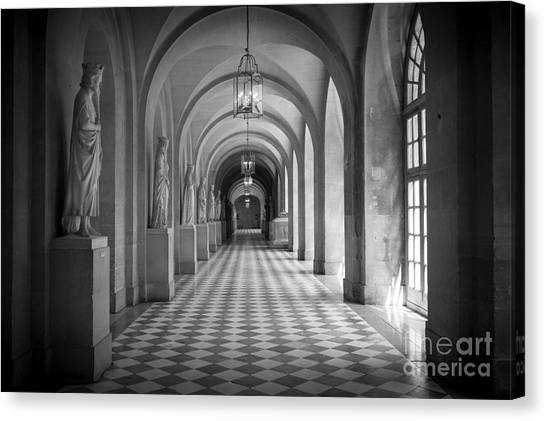 Europa Canvas Print - Versailles Hallway by Inge Johnsson