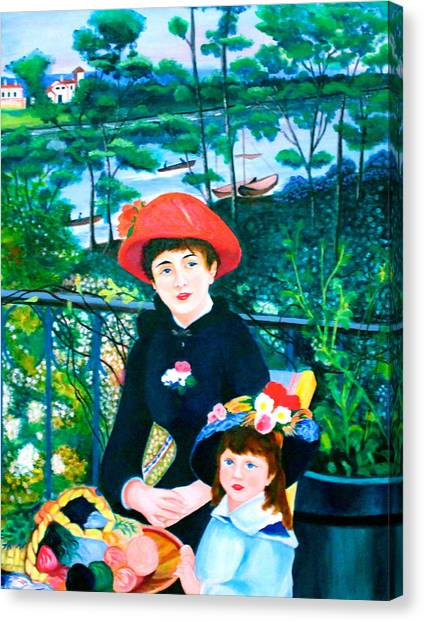 Version Of Renoir's Two Sisters On The Terrace Canvas Print