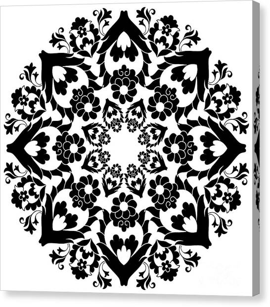 Elegance Canvas Print - Versions Of Ottoman Decorative Arts by Antsvgdal