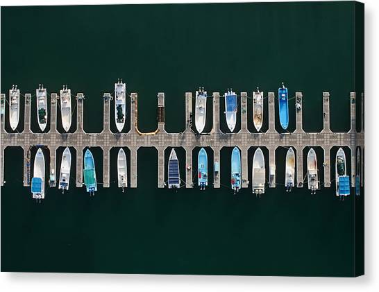 Marinas Canvas Print - Vertical Alignment by Shoayb Hesham Khattab