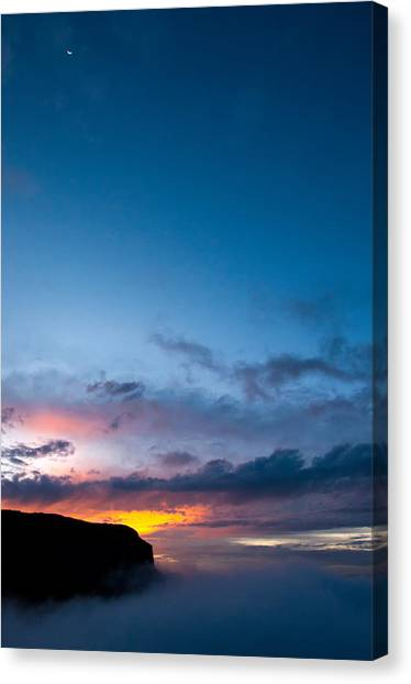 Nevado Del Ruiz Canvas Print - Vertical Sunset In Nevado Del Ruiz by Jess Kraft