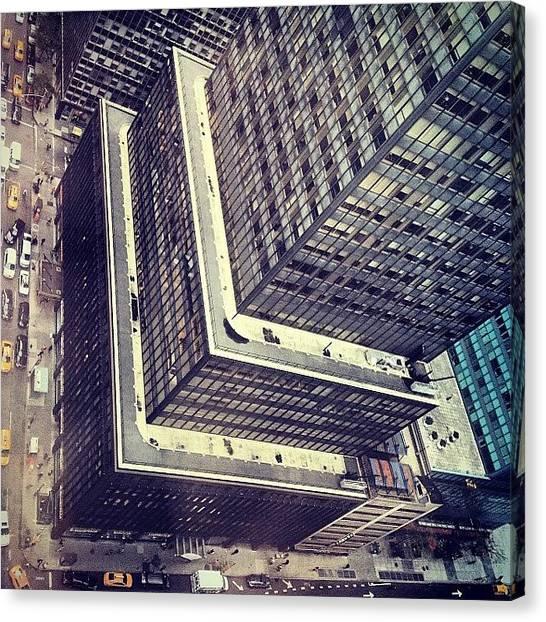 Vertigo Canvas Print - #vertigo #skyscraper #architecture by Jannis Werner