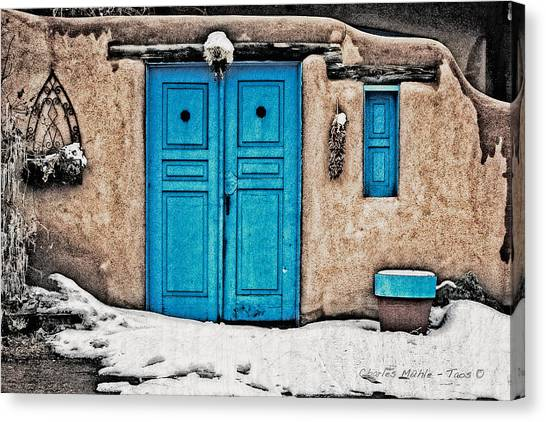 Very Blue Door Canvas Print