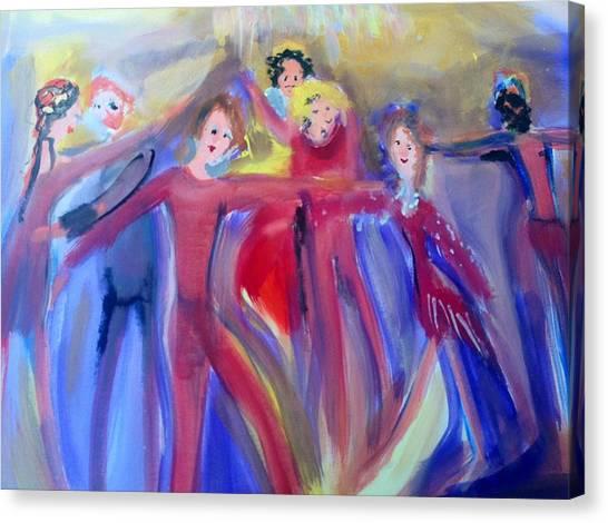 Very Hot Dance Team Canvas Print