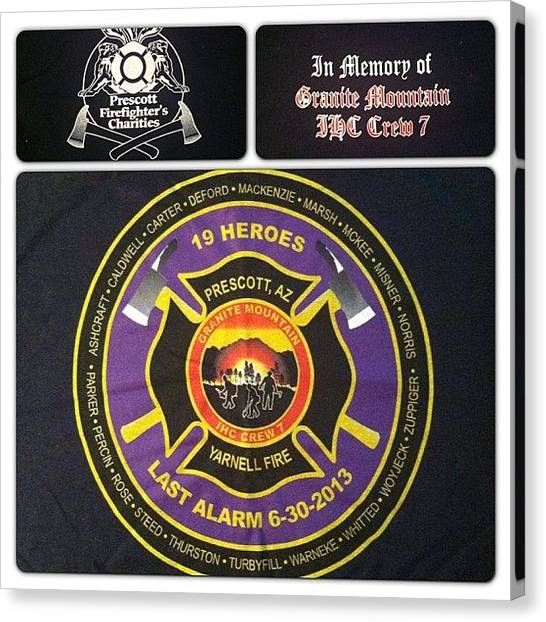 Firefighters Canvas Print - Very Special #mailcall Today. Rest In by Ashley Sandler