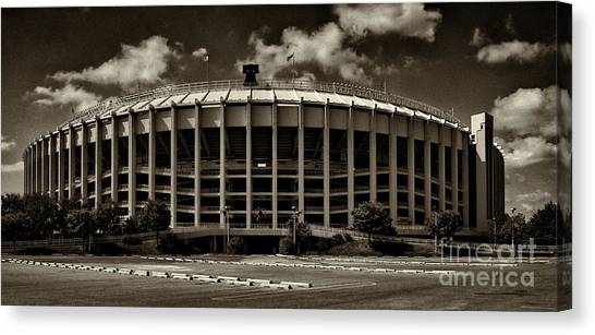 Philadelphia Eagles Canvas Print - Veterans Stadium 1 by Jack Paolini