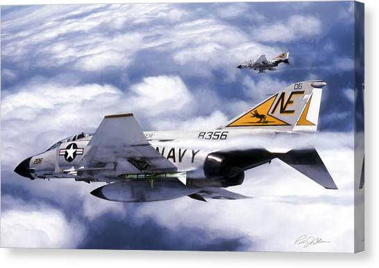 Sidewinders Canvas Print - Vf-21 Freelancers by Peter Chilelli
