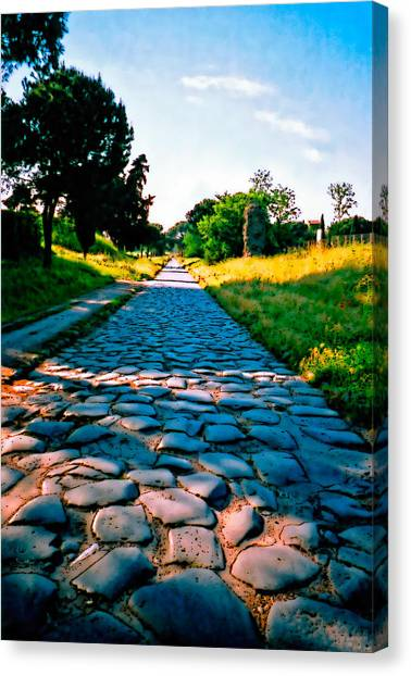Via Appia Antica - Rome Canvas Print