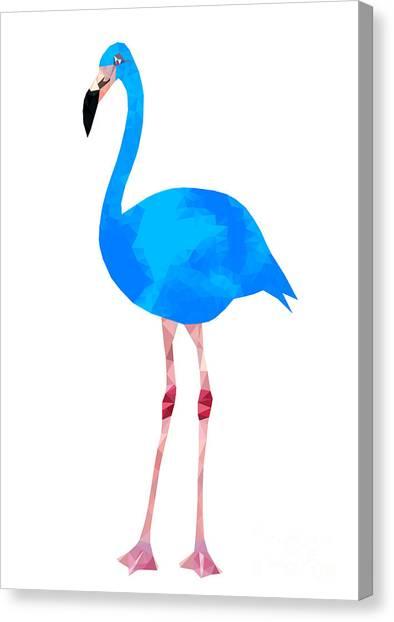 Florida Canvas Print - Vibrant Dark Blue Flamingo Bird Low by Samantha Jo
