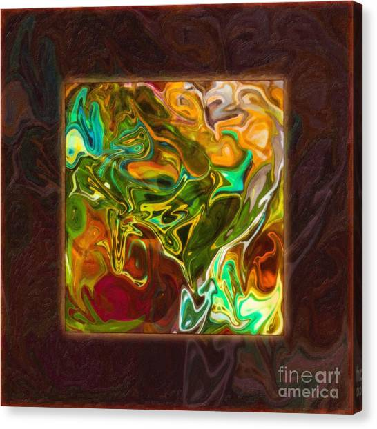 Canvas Print featuring the painting Vibrant Fall Colors An Abstract Painting by Omaste Witkowski